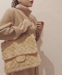 fur quilting bag(A18-08009K)