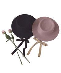 【Autumn 9】felt ribbon hat (A19-10136K)