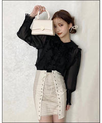 【Autumn 37】lace up mini skirt (A20-03066K)
