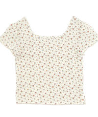 ripple flower tops (S19-01137K)-WHT.FLW/F