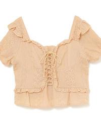 lace up lady blouse (S19-01134K)