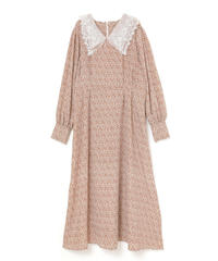 《Last1》lace collar long flower one-piece(A19-04061K)