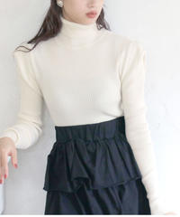 puff sleeve turtleneck  knit