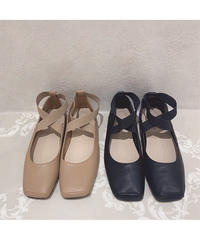 cross strap flat shoes (S20-07025K)