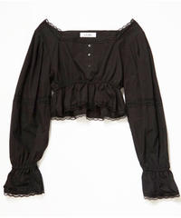 square neck peplum blouse