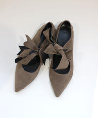 velour ribbon pumps (S20-07024K)