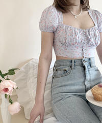 rose puff blouse