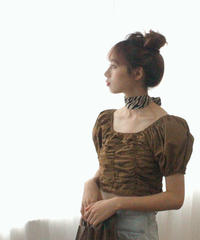 shirring lady tops (S19-01101K)-BRN.SOL/F