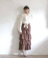 shirt blouse & tiered skirt(A19-05033K)