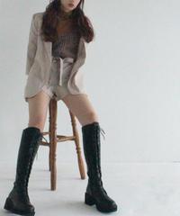 lace up long boots (A19-07017K)
