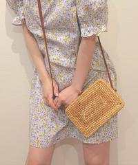 square basket bag (S19-08016K)-BRN.SOL/F