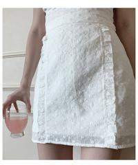 frill mini skirt (white)