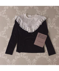 【Autumn 13】frill collar velour blouse (cg00056)