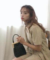 wood purse bag (S19-08023K)-BLK.SOL/F