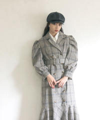 check mermaid coat(A19-06034K)