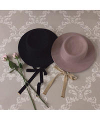 【Autumn 9】felt ribbon hat (A19-10136K)