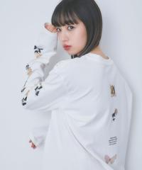 【lottie made】angel butterfly long sleeve tee (S20-01191O)