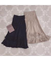 【Autumn 21】random pleats flare skirt (A20-03059K)