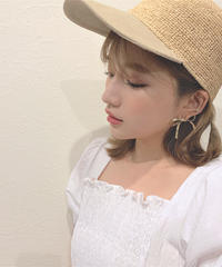 straw ribbon cap (S19-10082K)