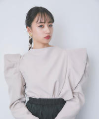 puff shoulder frill blouse (S20-01188K)