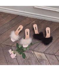 【Summer19】feather enamel mule(cg00022)