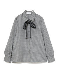 gingham check blouse(A19-05023K)