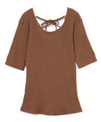 back cross ribbon tops (S19-01133K)