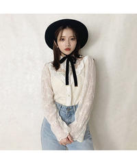 【Autumn 18】mix lace blouse (cg00060)