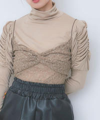 lace bustier turtleneck tops (S20-01182K)