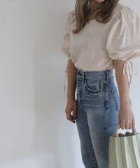 flower square neck blouse (S19-01122K)-PNK.FLW/F