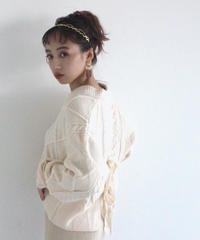 《LAST 3》back ribbon knit pullover (A19-01142K)