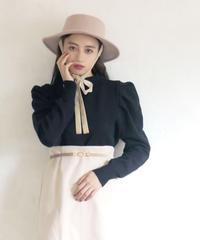 puff sleeve bottle neck knit(A19-01167K)