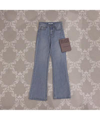 【Autumn 19】vintage like flare denim pants (S20-02015K)