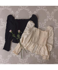 【Autumn 1】shirring flare blouse (cg00048)