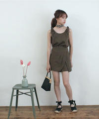 ribbon strap no sleeve & pants (S19-05016K)