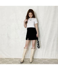 slit mini skirt (cg00042)