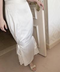 mermaid satin skirt -ivory-