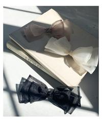 sheer ribbon barrette (3colors)