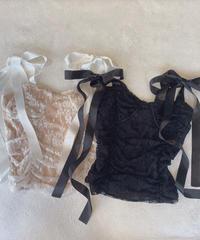 ribbon lace bustier (2colors)
