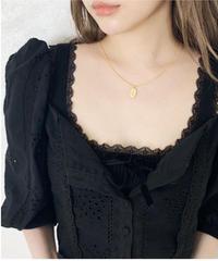 heart neck cotton lace blouse