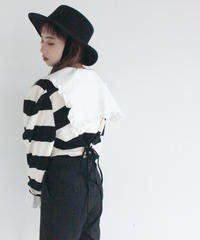 back lace up pullover(A19-01150K)