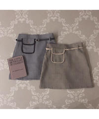 【Autumn 17】pocket check mini skirt (A20-03057K)