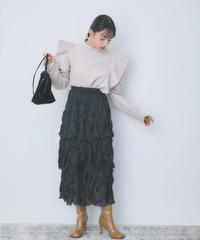 see-through tiered skirt(S20-03049K)