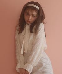 【CHISATO YOSHIKI × &lottie】jacquard bowtie blouse (S20-01180P)