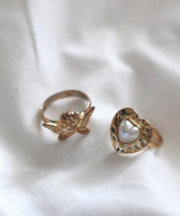 angel heart ring set(A19-10118K)