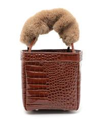 fur snake square bag  (A18-08004K)