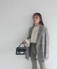 madras check jacket (S19-06026K)-GRY.CHK/F