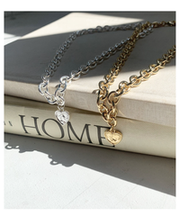 heart cable chain necklace (2colors)