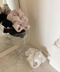 satin petit rose scrunchie (3colors)