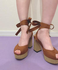wedge sole lace up sandal (S19-07012K)